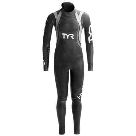 TYR Hurricane Category 3 Wetsuit (For Women) in Black/Silver - Closeouts