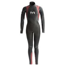 TYR Hurricane Category 5 Wetsuit (For Women) in Black/Red - Closeouts