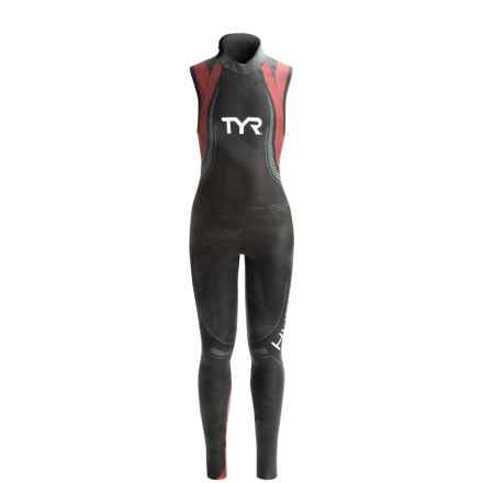 TYR Hurricane Category 5 Wetsuit - Sleeveless (For Women) in Black/Red - Closeouts