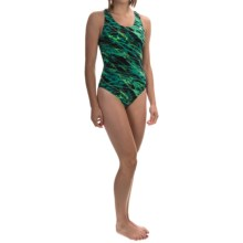 TYR Hypnosis Maxfit Swimsuit - UPF 50+, Racerback (For Women) in Green - Closeouts