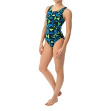 TYR Kaleidoscope Maxfit Swimsuit - UPF 50+ (For Women) in Blue/Green - Closeouts