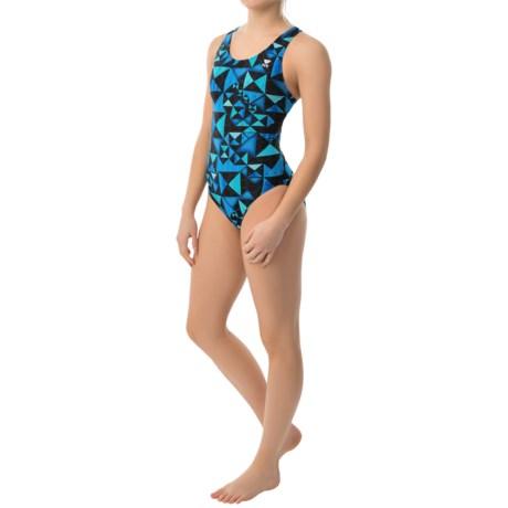 TYR Kaleidoscope Maxfit Swimsuit - UPF 50+ (For Women) in Blue