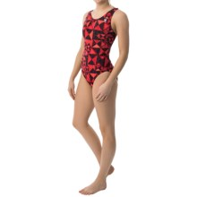 TYR Kaleidoscope Maxfit Swimsuit - UPF 50+ (For Women) in Red - Closeouts