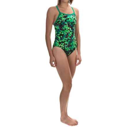 TYR Labyrinth Diamondfit Swimsuit - UPF 50+ (For Women) in Green - Closeouts