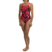TYR Labyrinth Diamondfit Swimsuit - UPF 50+ (For Women) in Red - Closeouts