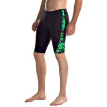 TYR Labyrinth Legend Splice Jammer Swimsuit (For Men) in Green - Closeouts