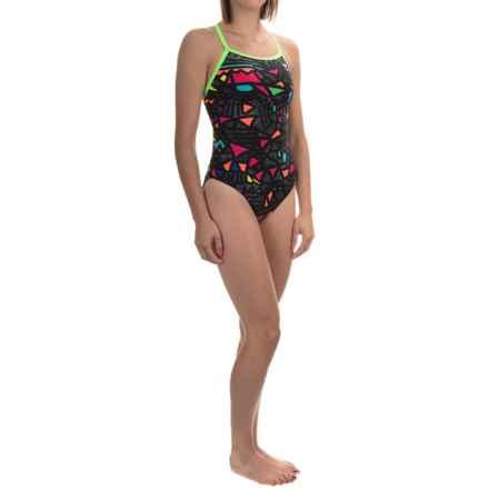 TYR Magura Diamondfit Swimsuit - UPF 50+ (For Women) in Black/Multi - Closeouts