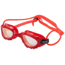 TYR Nest Pro Nano Mirrored Goggles - Silicone Straps (For Men and Women) in Red/Gold - Closeouts
