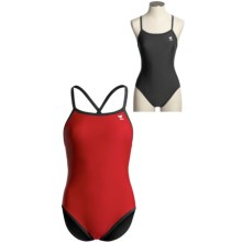 TYR Nylon Reversible Swimsuit - One-Piece (For Women) in Red/Black - Overstock