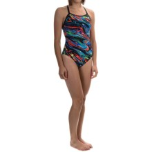 TYR Oil Slick Diamondfit Swimsuit - UPF 50+ (For Women) in Multi - Closeouts