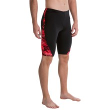 TYR Oil Slick Legend Splice Jammer Swimsuit - UPF 50+ (For Men) in Red - Closeouts