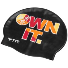 TYR Own It Swim Cap (For Men and Women) in Black - Closeouts
