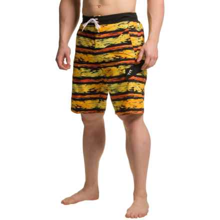TYR Paint Stripe Springdale Boardshorts (For Men) in Black/Orange - Closeouts