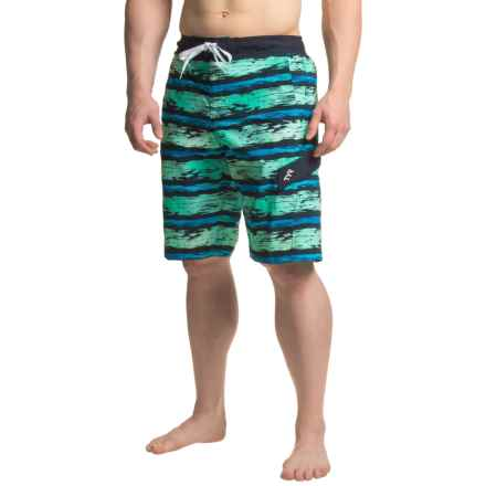 TYR Paint Stripe Springdale Boardshorts (For Men) in Navy/Turquoise - Closeouts