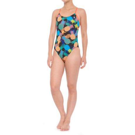 TYR Panama Cutoutfit Swimsuit - UPF 50+ (For Women) in Black/Multi