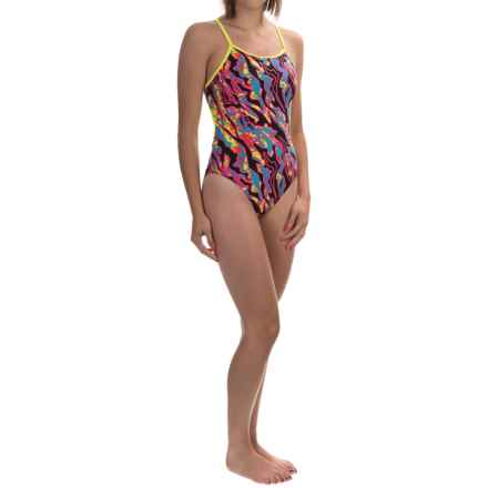 TYR Papua Crosscutfit Swimsuit - UPF 50+ (For Women) in Black/Multi - Closeouts