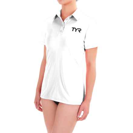 TYR Polo Rash Guard - Short Sleeve (For Women) in White - Closeouts