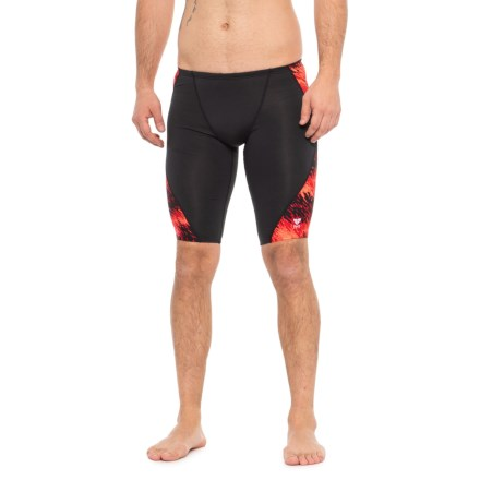 2eded02f608 TYR Red Perseus Jammer Swimsuit - UPF 50+ (For Men) in Red