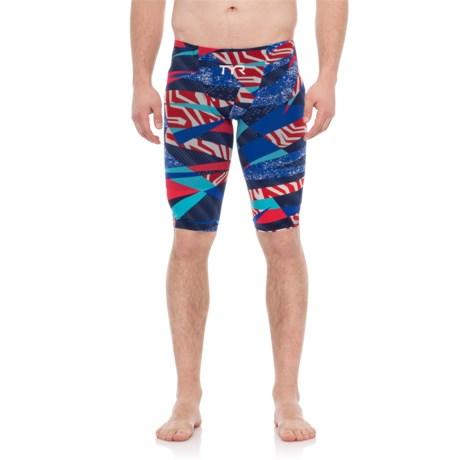 c87248013ad TYR Red/White/Blue Avictor Prelude Male Short Jammer Swimsuit (For Men)