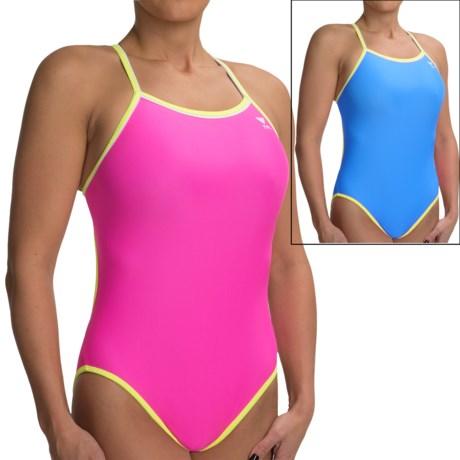 TYR Reversible Diamondback Swimsuit (For Women) in Blue/Pink