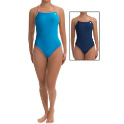 TYR Reversible Diamondback Swimsuit (For Women) in Blue/Pink