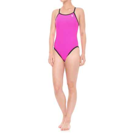 TYR Reversible Diamondfit One-Piece Swimsuit (For Women) in Pink/Black - Closeouts