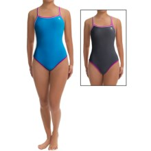 TYR Reversible DiamondFit Swimsuit - UPF 50+ (For Women) in Titanium/Blue - Closeouts