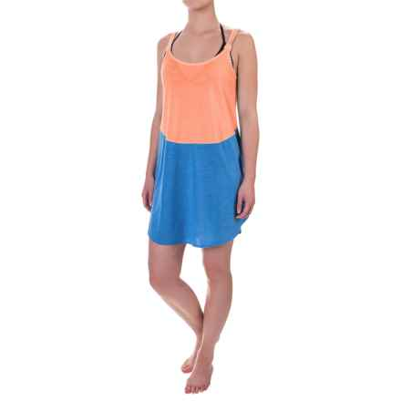 TYR Santorini Layback Swimsuit Cover-Up Dress - Sleeveless (For Women) in Blue/Coral - Closeouts