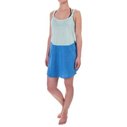 TYR Santorini Layback Swimsuit Cover-Up Dress - Sleeveless (For Women) in Blue/Mint - Closeouts