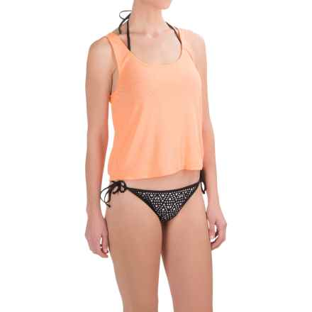 TYR Santorini Offwall Swimsuit Cover-Up Tank Top (For Women) in Coral - Closeouts
