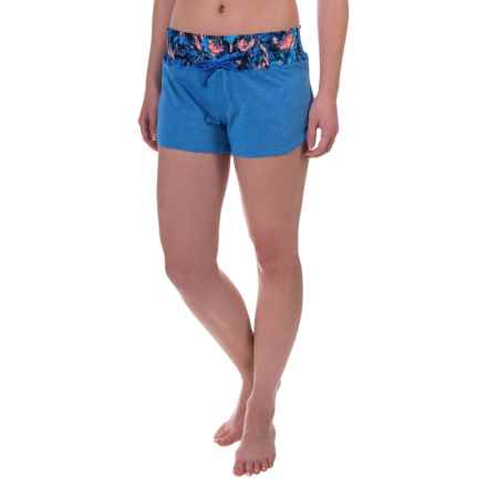 TYR Santorini Tidal Wave Swimsuit Cover-Up Shorts (For Women) in Blue/Multi - Closeouts