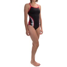 TYR Shark Bite Diamondfit Swimsuit - UPF 50+ (For Women) in Black/Red - Closeouts