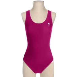 TYR Solid Competition Maxfit Swimsuit (For Women) in Cabernet