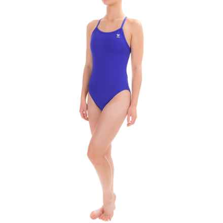 TYR Solid Racerback Competition Swimsuit - UPF 50+ (For Women) in Royal - Closeouts