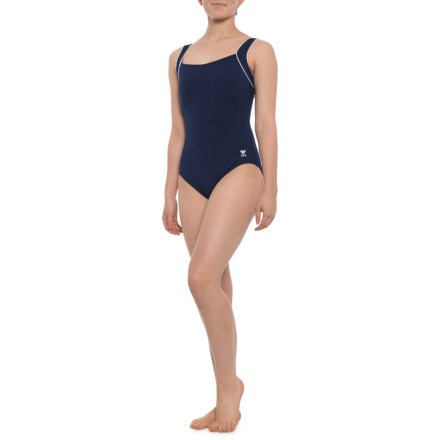fe14c27fd99ad TYR Solid Square-Neck Controlfit One-Piece Swimsuit - UPF 50+ (For