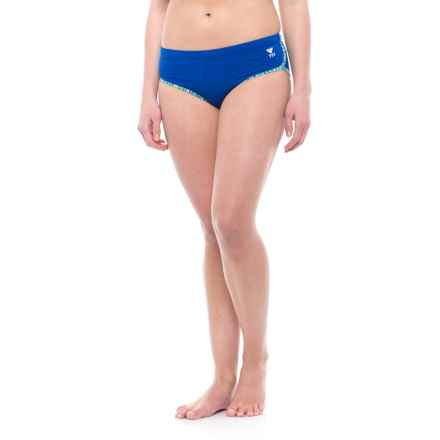 TYR Sonoma Binded Bikini Bottoms - UPF 50+, Hipster (For Women) in Royal Space Dye - Closeouts