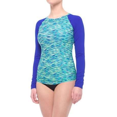 TYR Sonoma Rash Guard - UPF 50+, Long Sleeve (For Women) in Royal Space Dye