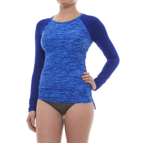TYR Sonoma Rash Guard - UPF 50+, Long Sleeve (For Women) in Velvet Space Dye