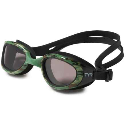 TYR Special Ops 2.0 Swim Goggles - Polarized (For Men and Women) in Green - Closeouts