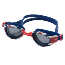 TYR Special Ops 2.0 Swim Goggles - Polarized (For Men and Women) in Red/ Navy Great Britan - Closeouts