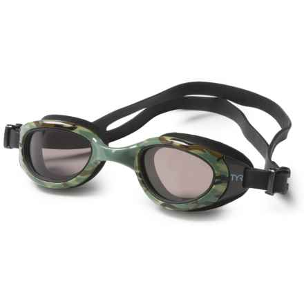 TYR Special Ops 2.O Small Swim Goggles - Polarized (For Men and Women) in Green - Closeouts