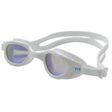 TYR Special Ops 2.O Small Swim Goggles - Polarized (For Men and Women) in White - Closeouts