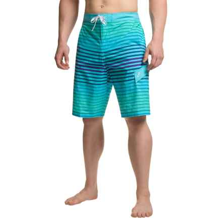 TYR Sunset Stripe Springdale Boardshorts (For Men) in Aqua - Closeouts