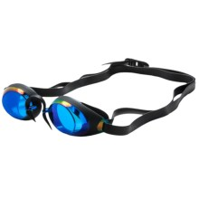 TYR Swedish Lo Pro Mirror Goggles (For Men and Women) in Blue - Closeouts