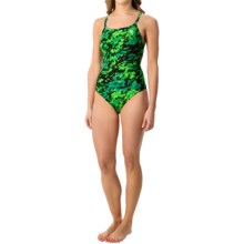 TYR Team Digi Diamondfit Swimsuit - UPF 50+ (For Women) in Green - Closeouts