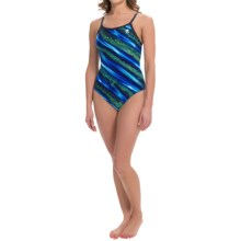 TYR Venom Diamondfit Swimsuit - UPF 50+ (For Women) in Blue/Green - Closeouts