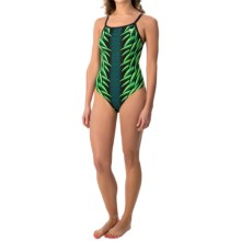 TYR War Bird Diamondfit Swimsuit - UPF 50+ (For Women) in Green - Closeouts