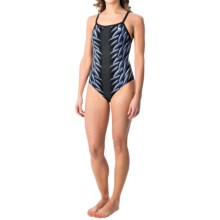 TYR War Bird Diamondfit Swimsuit - UPF 50+ (For Women) in Titanium - Closeouts