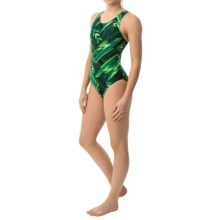 TYR Zenith Maxfit Swimsuit - UPF 50+ (For Women) in Green - Closeouts