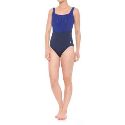 TYR Zigzag Fitness One-Piece Swimsuit - UPF 50+ (For Women) in Navy/Blue - Closeouts